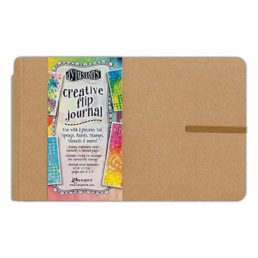 "Dylusions Journal - Flip (Small) 8 5/8"" x 5 5/16"" White Paper"