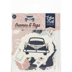 Echo Park Frames & Tags  - Just Married