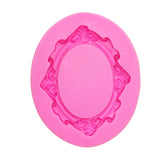 Silicone Mold - Embossed Oval Frame