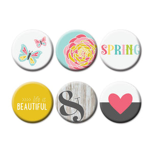 Fancy Pants Buttons - Life is Beautiful