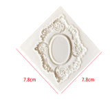 Silicone Mold - Fancy Floral Frame