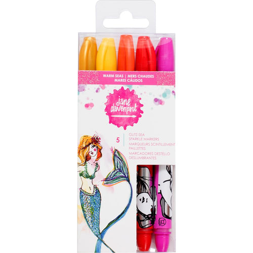 Jane Davenport Glitz Sea Sparkle Markers - Warm Seas