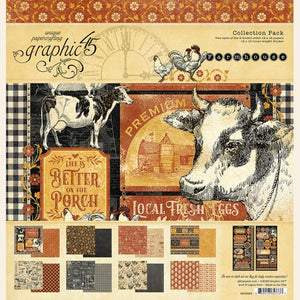 "Graphic 45 Paper Pack 12"" x 12"" - Farmhouse"