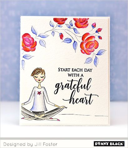 Penny Black Stamp set - Grateful Heart