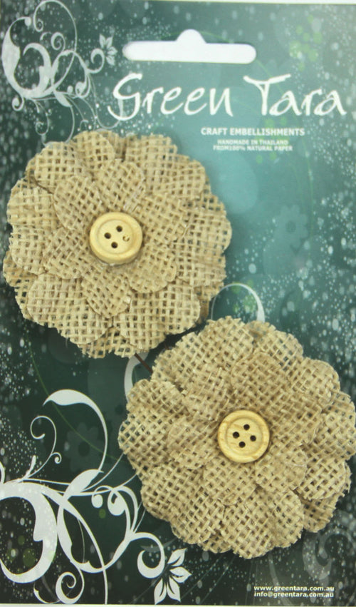 Green Tara Flower Pack - Burlap Natural