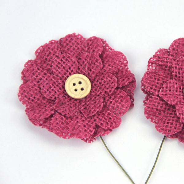 Green Tara Flower Pack - Burlap Raspberry