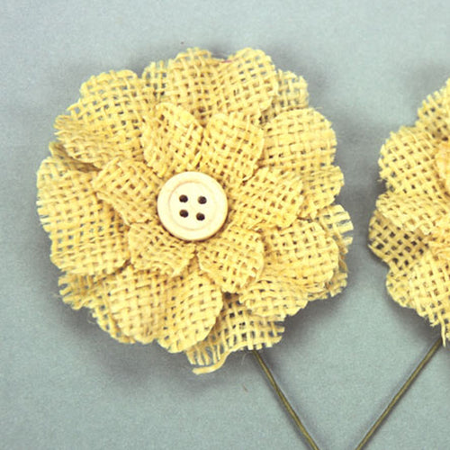 Green Tara Flower Pack - Burlap Yellow