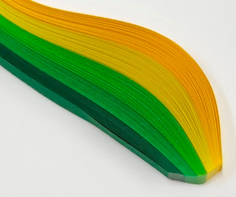 HP Quilling Strips 3mm - Green Shades