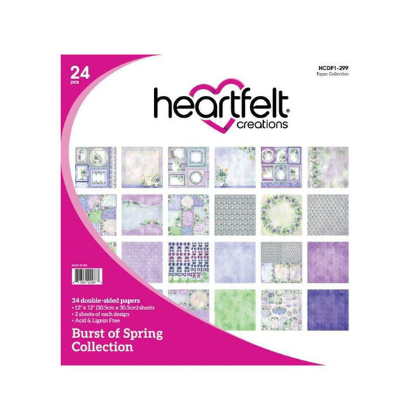 "Heartfelt Creations Paper Pad 12"" x 12"" - Burst of Spring"