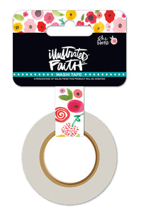 Illustrated Faith Washi Tape - Bloom