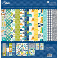 "Jillibean Soup Paper Pack 12"" x 12"" - 2 Cool for School"