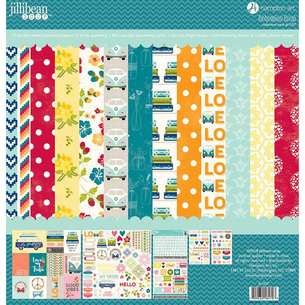 Jillibean Soup 12x12 Collection Pack - Bohemian Brew