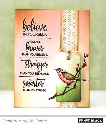 Penny Black Clear Stamps - Just Believe