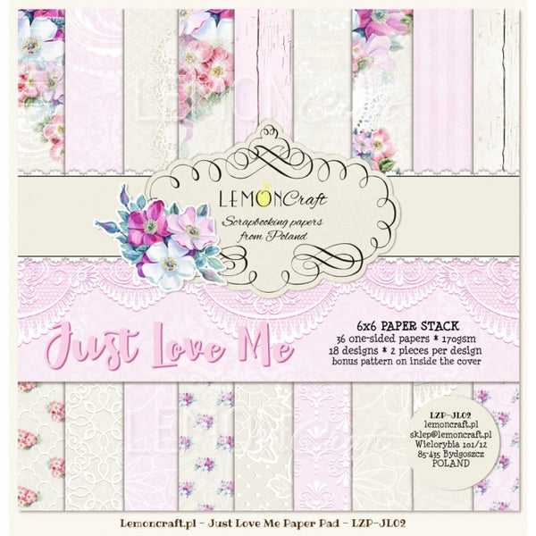 "LemonCraft Paper Pad 6"" x 6"" - Just Love Me"