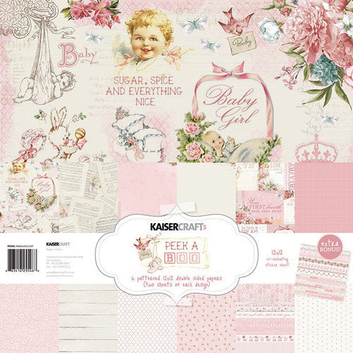 "Kaisercraft Paper Pack 12"" x 12"" - Peek-A-Boo Girl"