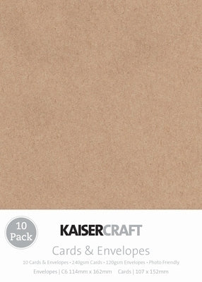 Kaisercraft Card & Envelope Packs - C6