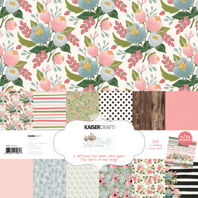 Kaisercraft 12x12 Paper Pack - Full Bloom