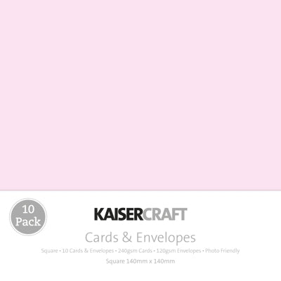 Kaisercraft Card & Envelope Packs - Square