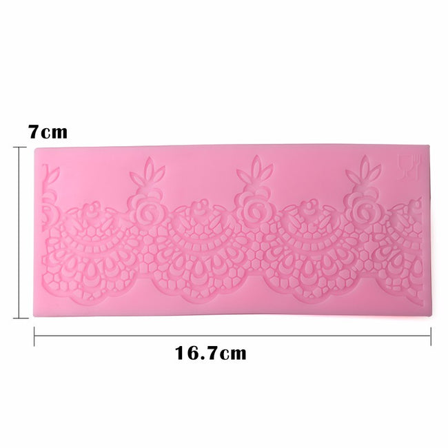 Silicone Mold - Lace Edge With Floral Tip