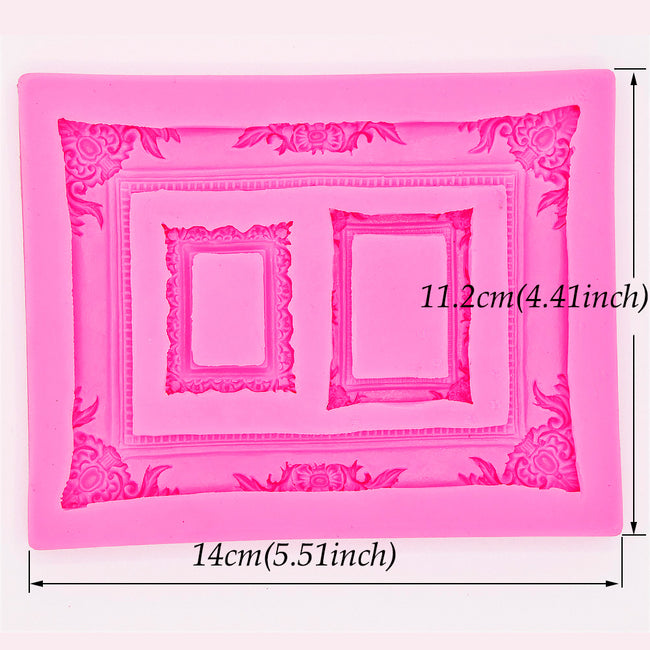 Silicone Mold - Extra Large Trio Frame