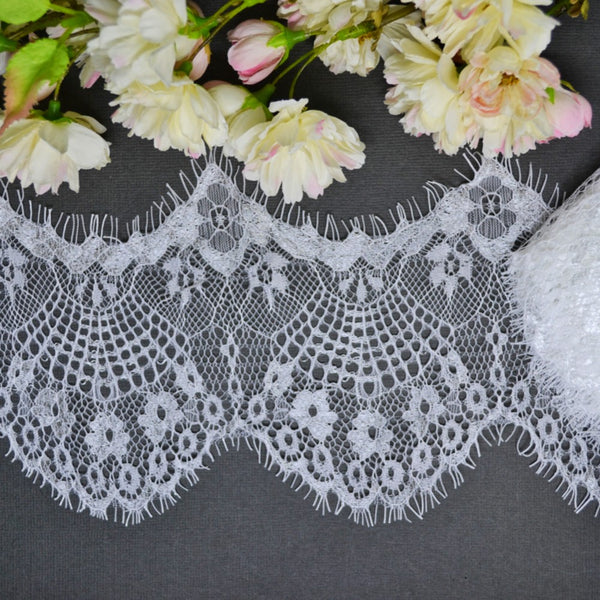 Large Scallop Eyelash Lace - 30cm