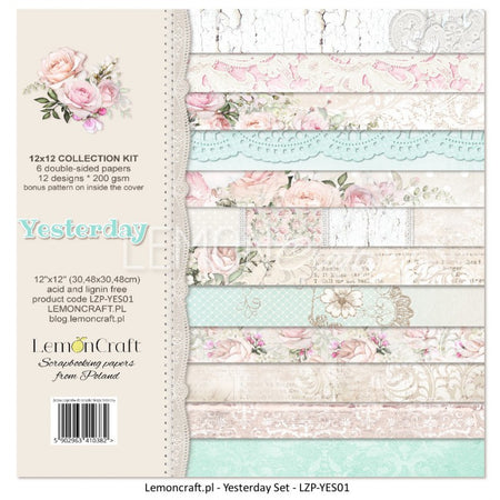 LemonCraft A4 Cut Apart Sheet - Yesterday Tags
