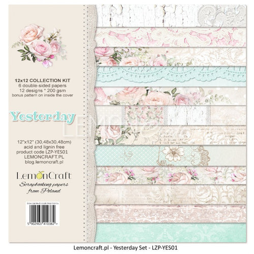 "LemonCraft Paper Pad 12"" x 12"" - Yesterday Collection"