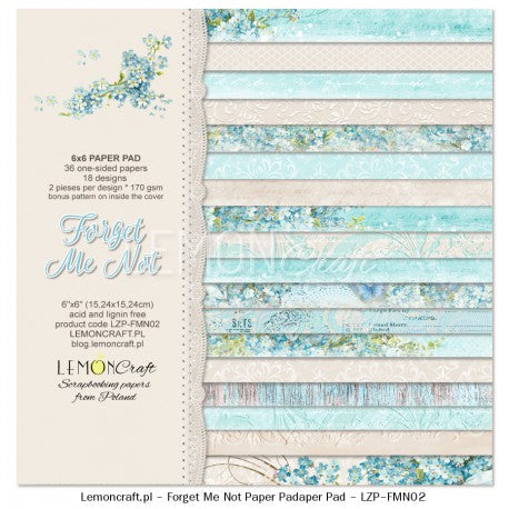 "LemonCraft Paper Pad 6"" x 6"" - Forget Me Not"