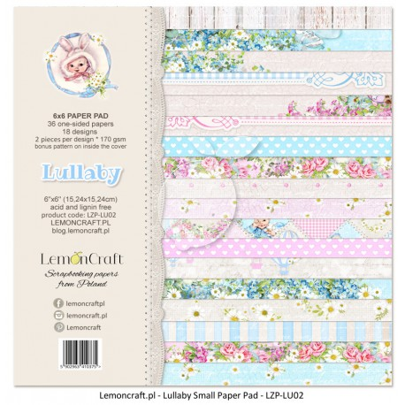 "LemonCraft Paper Pad 6"" x 6"" - Lullaby"