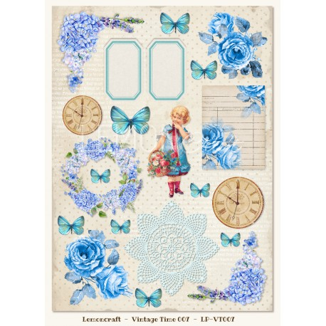 LemonCraft Cut Apart Sheet A4 - Gossamer Blue (007)