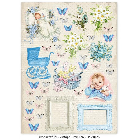 LemonCraft A4 Cut Apart Sheet - Lullaby Boy