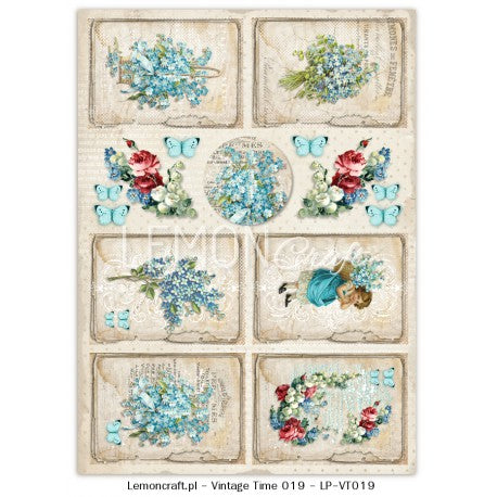 LemonCraft A4 Cut Apart Sheet - Forget Me Not Tags