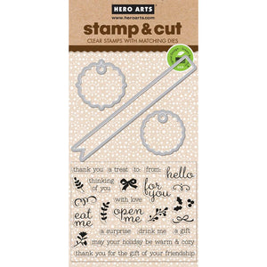 Hero Arts Stamp & Die set - Little Messages