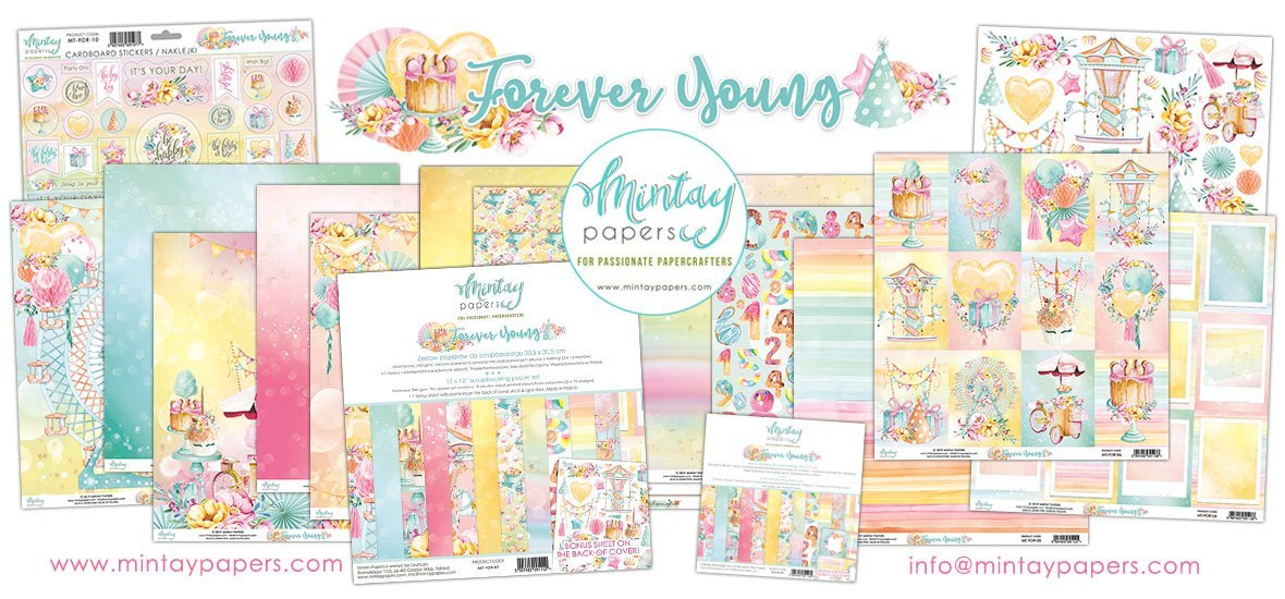 "Mintay Paper Pack 12"" x 12"" - Forever Young"