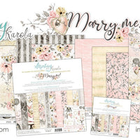 "Mintay Paper Pack 12"" x 12"" - Marry Me"