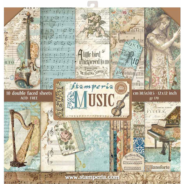 "Stamperia Paper Pack 12"" x 12"" - Music"