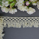 Natural Fringe Diamond Edge Lace - 30cm