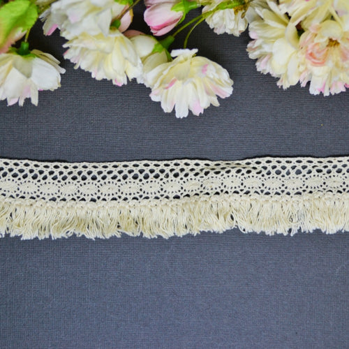 Natural Fringe Fine Edge Lace - 30cm