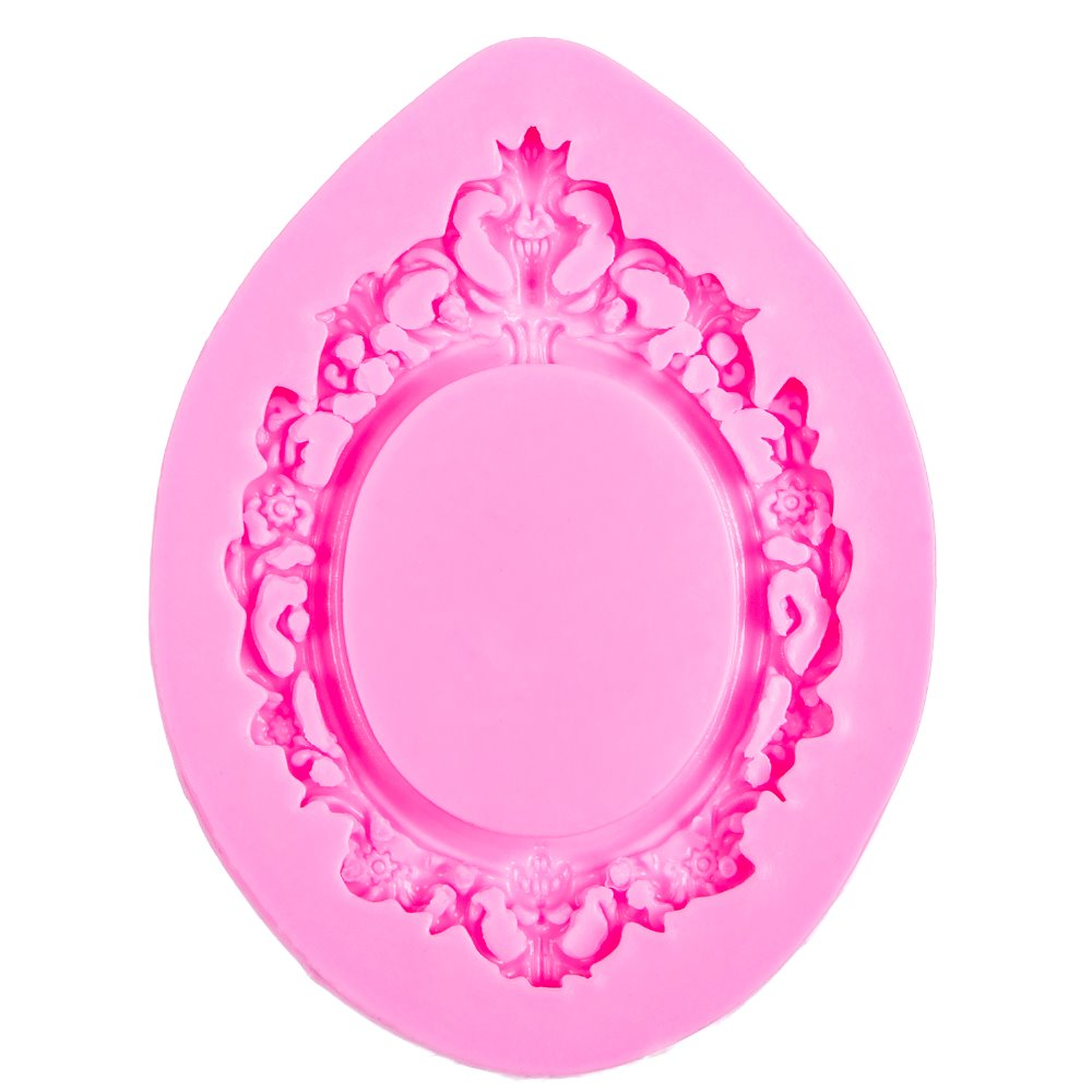 Silicon Mold - Ornate Oval Frame