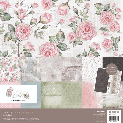 "Kaisercraft Paper Pack 12"" x 12"" - Lady Like"