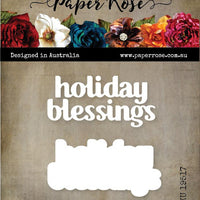 Paper Rose Die Set - Holiday Blessings