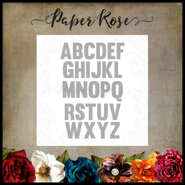 Paper Rose Die set - Alphabet