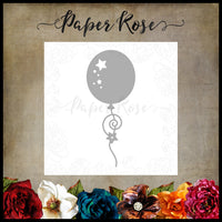 Paper Rose Die - Balloon with Streamers