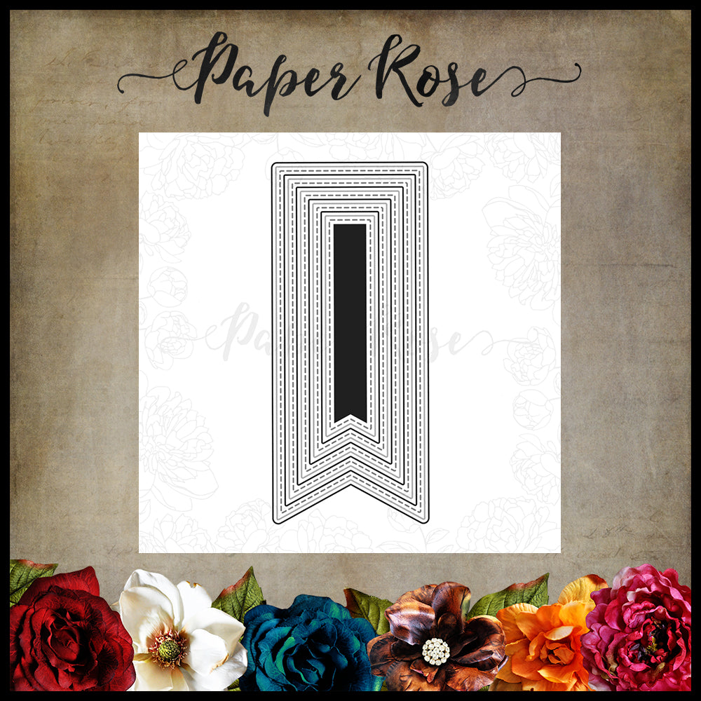 Paper Rose Die set - Banner 1 Small