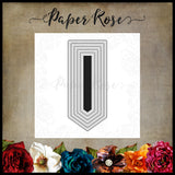 Paper Rose Die set - Banner 2 Small
