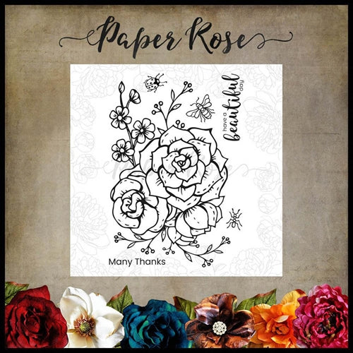 Paper Rose Stamp set - Beautiful Day