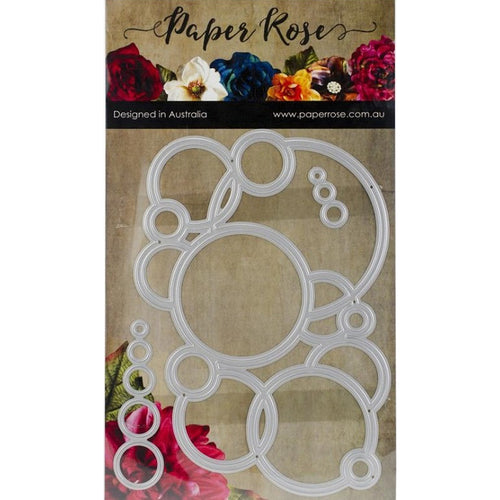 Paper Rose Die - Bubbles Background