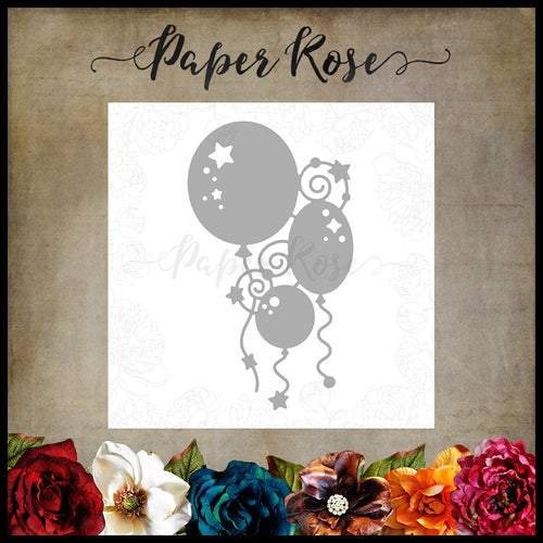 Paper Rose Bunch of Balloons