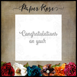 Paper Rose Die set - Congratulations on your Small
