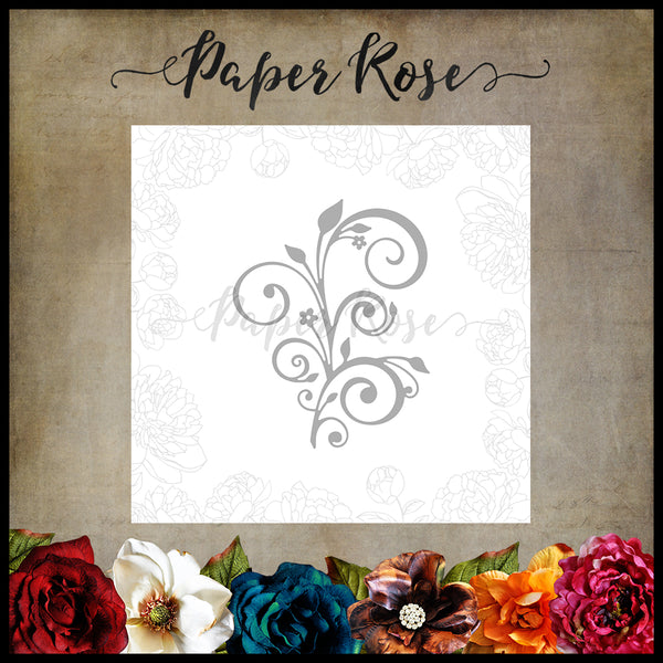 Paper Rose Die - Elegant Flourish Small